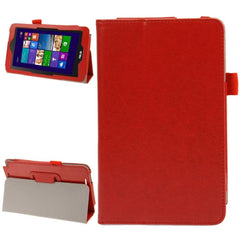 Crazy Horse Texture Leather Case with Holder for ASUS Vivo Tab Note 8 M80TA(Red)