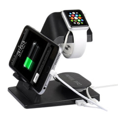 Itian A16 Bracket Charger Holder for Apple Watch 38mm & 42mm / iPhone 6 & 6 Plus / iPhone 5 & 5S & 5C / iPad(Black)