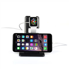 Itian A11 Bracket Charger Holder for Apple Watch 38mm & 42mm / iPhone 6 & 6 Plus / iPhone 5 & 5S & 5C / iPad(Black)