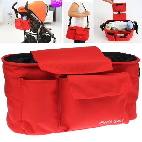 Multifunctional Nappy Bag / Mother Shoulder Bags Baby Carriage Bag(Red)