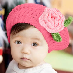 Children Manual Knitting Beret Hat
