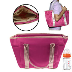 High Quality Rainproof Cloth Baby Products Hand Bag with Braces(Magenta)