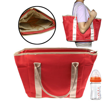 High Quality Rainproof Cloth Baby Products Hand Bag with Braces(Red)
