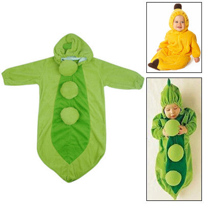 Cute Pea Style Baby Clothing for Sleeping Size: 75#(Green)