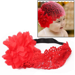 Fashion Girls Infant Tulle Lace Headwear / Flower Hair Band / Lovely Princess Hairband(Red)