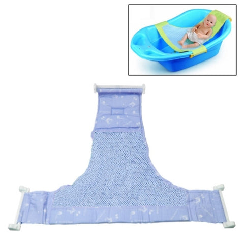 Safe Cushion Baby Bath Bed / Bathtub Bath Seat Baby Bath T Bed(Blue)