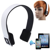 BH-02 Bluetooth V3.0 + EDR Stereo Audio Headset with MIC Transfer Distance: 10m(White)