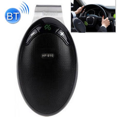 HF-810 Bluetooth 4.0 Hands Free Car Kit Speakerphone Speaker for iPhone / HTC / Samsung with Sun Visor Clip & Car Charger