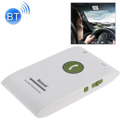 Hands Free Kit Bluetooth 4.0 In-car Multipoint Speakerphone Speaker for iPhone / HTC / Samsung with Sun Visor Clip & Car Charger(White)