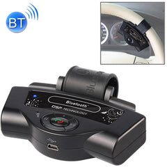 BT-8109B Steering Wheel Car Bluetooth Hands-free Kit with Car Charger Support Music Play & Hands-free Answer Phone & FM Function(Black)