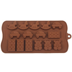 Cute Cartoon Style Silica Gel Fondant Cake Mold