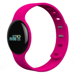 H8 0.68 inch OLED Display Bluetooth 4.0 Smart Bracelet  Support Pedometer / Call Reminder / Sleep Tracking / Watch Function / Anti-lost Function Compatible with iOS and Android System(Magenta)