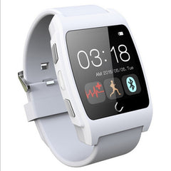 Uwatch UX 1.44 inch Touch Screen BT 4.0 Health Smart Watch Support Heart Rate Monitor Pedometer Sleep Monitor Remote Pictures Anti-lost Function(White)