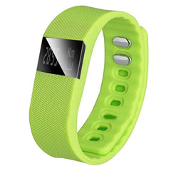 TW64 OLED Display Bluetooth 4.0 Waterproof Smart Bracelet Support Pedometer / Sleep Monitoring / Call Reminder / Clock / Remote camera / Anti-lost Function Compatible with iOS and Android System(Green)