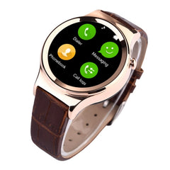 T3 Bluetooth Smart Watch 1.22 inch IPS Screen Watch Phone Support Pedometer / Sedentary Reminder / Sleep Tracking / GSM(Gold)