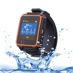Sultra HRM W08 1.54 inch Tri-proof Smart Watch Phone Support Bluetooth / Sleep Monitor / Anti-lost / Pedometer / Sedentary Remind / Heart Rate Monitor / Remote Capture / GSM (Black + Orange)