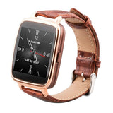 Oukitel A28 1.54 inch IPS Screen Bluetooth Smartwatch with Leather Band for Smartphone with Heart Rate Sensor / Pedometer / Remote-control Function(Gold)
