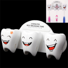 Smile Face Style Suction Toothbrush Holder Rack Wall Decor