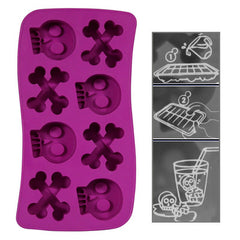 Skeletal Style Ice Cube Tray (Random Color Delivery)