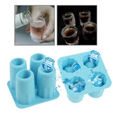 Shot Glasses Style Silicone Ice Cube Tray (Random Color Delivery)