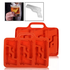 Silicon Handgun Shaped Ice Cube Tray (Random Delivery)