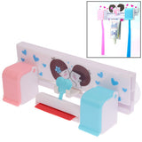 Sweet Lovers Toothbrush / Toothpaste Holder with Suction Cups