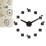 Creative DIY CLOCK 360 3D Digital  Wall Clock