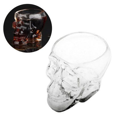 Crystal Skull Head Vodka Whiskey Shot Glass