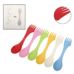 Colorful ABS 3-in-1 Knife / Fork / Spoon Set (6pcs in one Packing the Price is for 6pcs)