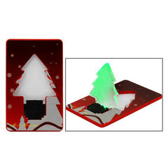 Christmas Tree Mini Portable LED Card Light Special for christmas gift