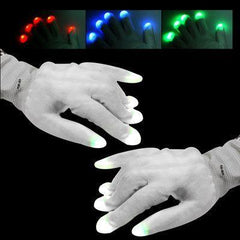 2 x 6-Mode Multi-Color LED Party Gloves(White)