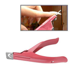 Nail Art Acrylic False Nail Clipper (Pink)