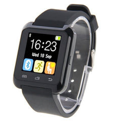 U80 Bluetooth Health Smart Watch 1.5 inch LCD Screen for Android Mobile Phone Support Phone Call / Music / Pedometer / Sleep Monitor / Anti-lost(Black)