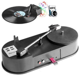 Ezcap613 Mini USB Turntable Turn Plate Vinyl LP to MP3 USB Flash-drive Hot Swapping Converter