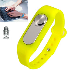 Wearable Wristband 4GB Digital Voice Recorder Wrist Watch One Button Long Time Recording(Yellow)