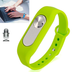 WR-06 Wearable Wristband 8GB Digital Voice Recorder Wrist Watch One Button Long Time Recording(Green)