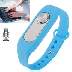 WR-06 Wearable Wristband 8GB Digital Voice Recorder Wrist Watch One Button Long Time Recording(Blue)