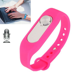 WR-06 Wearable Wristband 8GB Digital Voice Recorder Wrist Watch One Button Long Time Recording(Magenta)