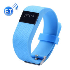 TW64S Waterproof Bluetooth 4.0 Heart Rate Smart Health Bracelet Support Pedometer / Sleep Monitoring / Call Reminder / Clock / Remote Camera / Anti-lost Compatible with iOS and Android System(Blue)