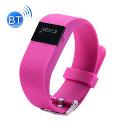 TW64S Waterproof Bluetooth 4.0 Heart Rate Smart Health Bracelet Support Pedometer / Sleep Monitoring / Call Reminder / Clock / Remote Camera / Anti-lost Compatible with iOS and Android System(Magenta)