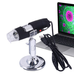 2.0 Mega Pixels 800X USB Digital Microscope with 8 LED White Light / Holder