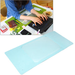 Multi-Functional Office / Home Desk Table Keyboard Mat(Blue)