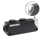 60X-100X Zoom & Focus LED Illuminated Microscope Pocket Magnifier Jewelry Loupe