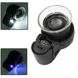 LED Focus-AD Adjusting Jewelry Identifying Magnifier/ LED Currency Detecting Magnifier