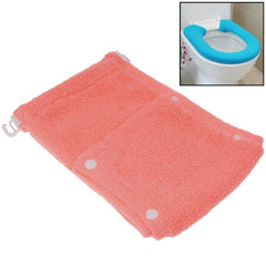 General Thicken Button Type Toilet Cushion Circle of Toilet Seat Cover (Pink)