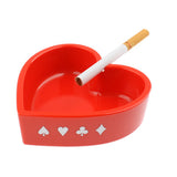 Heart Poker Style Cigarette Ashtray Size:100x103x30mm(Red)