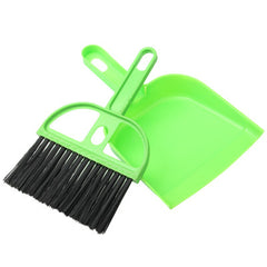 Office Home Car Cleaning Mini Whisk Broom Dustpan Set Random Color Delivery
