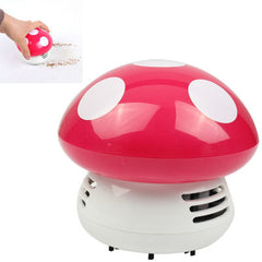 Mini Cute Personality Household/Vehicle Cartoon Colored Mushroom Desktop Vacuum CleanerSize:9x9x8cm(Pink)