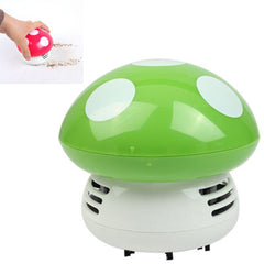 Mini Cute Personality Household/Vehicle Cartoon Colored Mushroom Desktop Vacuum CleanerSize:9x9x8cm (Green)