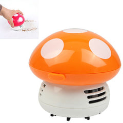 Mini Cute Personality Household/Vehicle Cartoon Colored Mushroom Desktop Vacuum CleanerSize:9x9x8cm (Orange)